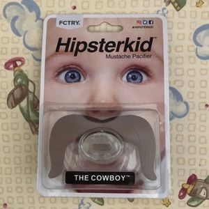 "Hipsterkid mustache pacifier ""The Cowboy""."